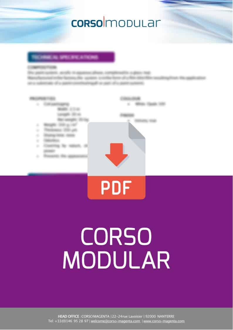 , Corso modulaire